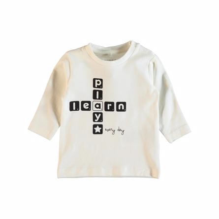 Image of   NAME IT Baby Bluse Med Ordspil Hvid