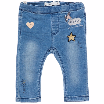 Image of   NAME IT Baby Denim Bukser Med Badges