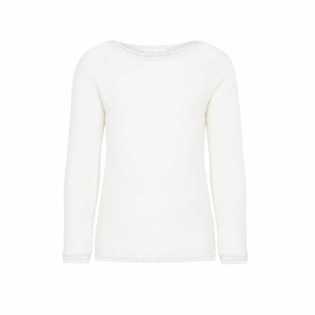 Name it merinould bluse hvid fra name it på smartkidz.dk