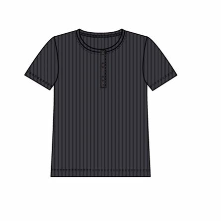 Name it kortærmet bluse rib sort fra name it på smartkidz.dk