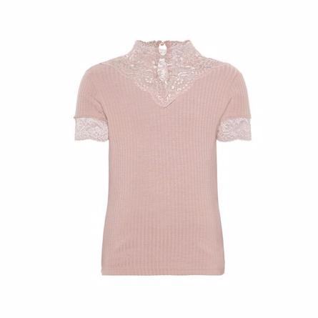 name it – Name it kortærmet blonde bluse rosa på smartkidz.dk