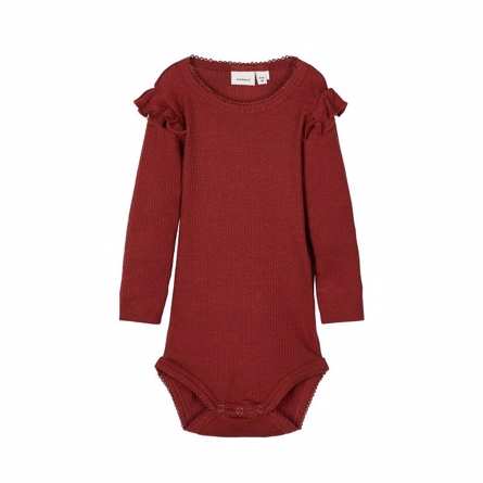 Image of   NAME IT Modal Rib Flæse Body Russet Brown