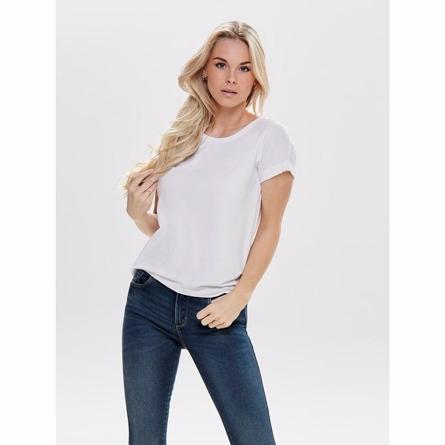 Image of   ONLY Løs T-shirt Top Hvid