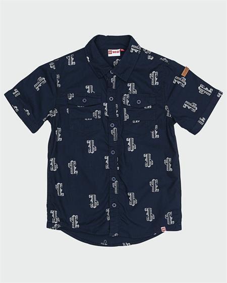 Image of   LEGO WEAR Navy Skjorte Med Print
