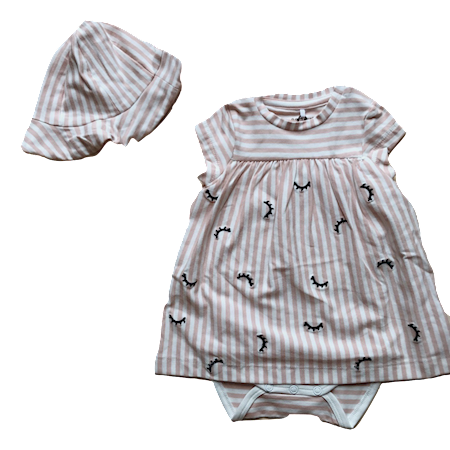 Image of   NAME IT Baby Kjole & Sommerhat