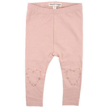 SMALL RAGS Leggings Med Hjerter I Rosa