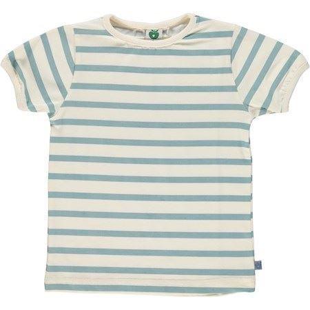 Image of   SMÅFOLK T-Shirt Med Striber Blå